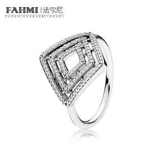 FAHMI 100% 925 de plata esterlina 1: 1 Original auténtico encanto 196210CZ temperamento moda Glamour anillo retro boda joyería de las mujeres