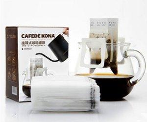 CK8039 2 коробки 100 штук висит ухо кофе фильтр мешок плетение фильтровальной бумаги 75x90mm