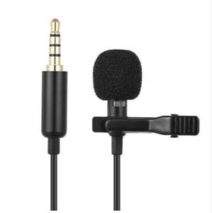 Andoer 1.45 m Mini Microfone Condensador Portátil Clip-on Lapela Microfone De Microfone Microfon Microfone Prendido Com Fio para o Telefone para Laptop