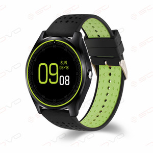 SOVO Android ساعة ذكية SF10 الرجال ROM 32M + 32M ساعة ذكية V9 مع الكاميرا SIM 850/900/1800/1900 رباعية النواة للهواتف الذكية