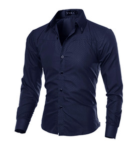 Hombre Vestir Dress Shirts Casual Slim Fit Mens Shirt Chemise Homme Men Shirt Solid Mesh Heren Hemden Camisa Masculina 5XL