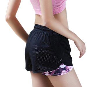 Женские шорты хорошее качество хлопчатобумажная сетка короткие брюки Рабочие две слой Фитнес сгиб прохладный износ