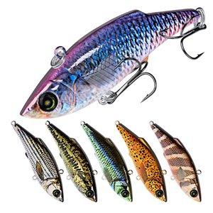 10 pcs lot Segmente Künstliche Fische VIB Angelköder 7,9 cm 10,5g Tief Tauchen Große Realistische Laser Musky Angeln Köder Haken