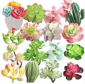 Tiny Dekoratif Yapay Etli Bitkiler Lotus Peyzaj Çiçek Mini Yeşil Sahte Bitkiler Ev Bahçe Düzenleme Dekor
