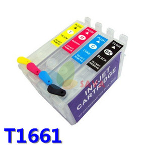 EMPTY Перезаправляемый картридж для epson T1661 T1662 T1663 T1664 Перезаправляемый картридж с чернилами для принтера me101 me10 с чипами ARC