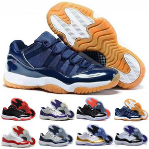 Wholesale X1 11 low QS Bred georgetown basketball shoes Citrus mens athletic trainer sports Hot sell 11s Gold Medal sneaker Women