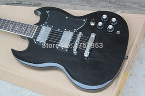 Ücretsiz Kargo 2015 yeni Üst Fabrika Özel Klasik SG Elektro Gitar siyah 3 23