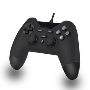 PS3 PC PSVITA TV Kutusu Android Windows için DOSLY USB Kablolu gamepad özel Kontrolörleri (siyah renk, SiyahMavi ve siyah kırmızı)