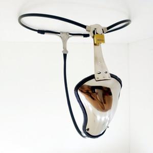 Новый дизайн регулируемый пояс верности мужской целомудрия устройство бондаж невидимые стринги брюки из нержавеющей стали петух Кейдж секс-игрушки для мужчин