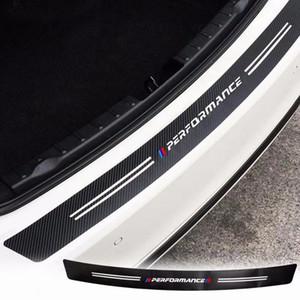 Trunk Tail Carbon Fibre Texture Bumper Guard Decor Performance Pegatina Trim para BMW M3 M4 Z4 X1 1 2 3 4 5 6 7 Series
