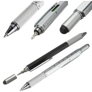 1 unids 7 color novela multifuncional destornillador bolígrafo pantalla táctil de metal herramienta de regalo de la escuela oficina supplie papelería pluma