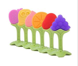 1 Unid. Mordedor de Silicona de Calidad Alimentaria Mordedor de Silicona Forma de la Fruta del Bebé Dentición de Silicona Juguetes Para Niños Masticar Juguetes Dientes