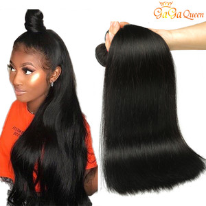 Sınıf 8A Vizon Brezilyalı Düz Saç Rengi # 1b 2. 4. Brezilyalı Virgin İnsan Saç Dokuma Paketler% 100 Brezilyalı Virgin Saç Düz