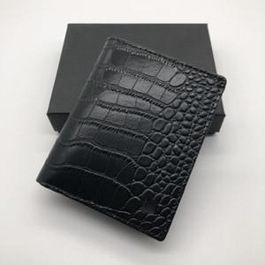 Lüks erkek moda deri cüzdan MB kısa klip marka tasarımcısı kart paketi MT kartvizitlik yüksek kaliteli M B timsah desen