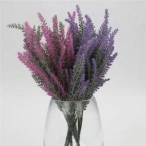 Düğün Holding Çiçek dekorasyon için Renkli İpek Çiçek yapay çiçek 25 kafaları 5 Çatallar 38cm Lavender Home Parti Dekoru