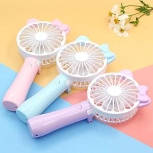 Mini pliable USB Fan Cartoon Cartoon Portable Handy Rechargeable Fan Summer Air Cooler Cooling Table Ventilateur De Bureau Pour Enfants Jouets En Plein Air