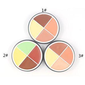 La más nueva flor de música Nueva paleta de corrector natural para mujeres Maquillaje Contour Pro 4 colores Crema Corrector de camuflaje