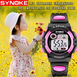 SYNOKE NOUVEAU Digital Enfants Montre Enfants Montres Filles Garçons Horloge Enfant Sport Montre-Bracelet Numérique-montre pour Fille Garçon Surprise Cadeau