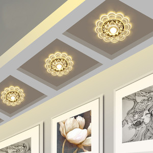 Modern Crystal LED Ceiling for Aisle Entrance Hallway Walkway Lights Creative Round Modeling Ceiling Lamp Support Drop Shipping