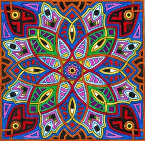 90 см * 90 см Психоделический Обои Флаг Ла Вещество Божественный Флаг Баннер 3 * 3FT Полиэстер Пользовательские Висячие Дома Декоративные