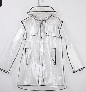 أزياء ضئيلة PVC Polyerser المعطف خاص بيع Waterp سقف تنفس عاكس الكبار Raincost