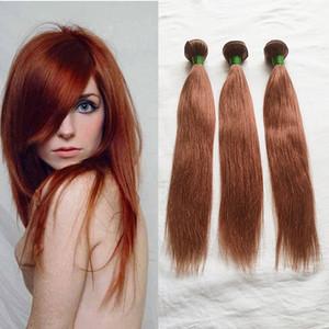 33 # Farbe 3pcs gerade Menschenhaar-Tressen 100% Jungfrau-brasilianischer Remy Haar-einschlag kein Verschütten Tangle Freie schnelle Anlieferung durch DHL Gerade Bundles