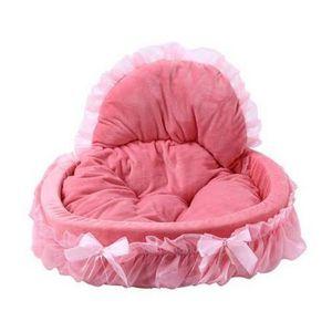 Sıcak satış Nefes Pet Köpek Yatak Ev Yıkanabilir Yay Dantel Prenses Köpek Kedi Yatak Kennel Nest Köpek Evleri Kennels Aksesuarları