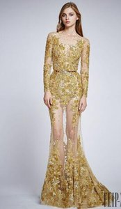 Evening dress Long Dress O-Neck Embroided Long Sleeve Have a Personablity Emborided Zipper Dazzing Sexy Elegrent Beautifuirt