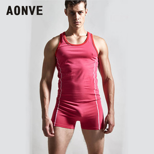 Venta al por mayor Hombres Body Shapers Body Cotton Stretch Shaperwear Bodyshaper Jumpsuit Hombre Sport Gym Shaping Fajas Chaleco M-XL