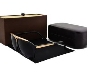En kaliteli kanıt Moda güneş gözlüğü retro vintage kadın erkek marka tasarımcı Perakende kutusu ve kılıf ile parlak çerçeve