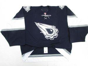 저렴한 맞춤형 EDMONTON 오일러 AUTHENTIC THIRD 팀 발행 6100 저지 골리 컷 60 Mens Stitched Personalized Hockey Jerseys
