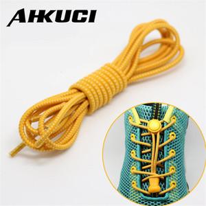 1 par Locking no Tie lazy shoeLaces sneaker elástico Cordones de niños zapato elástico seguro cordón cordones