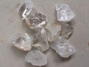 100g Raw Natural branco claro Cristal de Quartzo Pedra Áspera Original Specimen Cura cristal amor pedras naturais e minerais