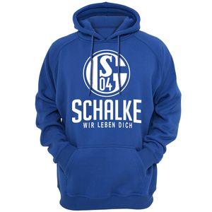 Frühling Herbstsaison Pullover Sweatshirts Männer Schalke 04 Deutschland Kapuzenshirt Lässige Kleidung Mode Oberbekleidung Kleidung 111