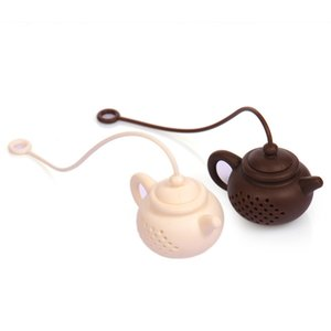 Hot Creativo Teiera in silicone forma tè filtro in modo sicuro infusore riutilizzabile tè / caffè colino tè perdite Accessori cucina