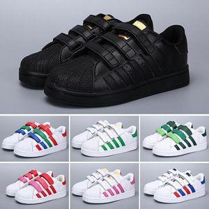 Adidas Superstar Marke Kinder Superstar Schuhe Original White Gold Baby Kinder Superstars Turnschuhe Originals Super Star Mädchen Jungen Sport Kinder Schuhe 24-35