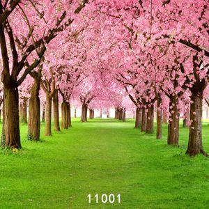 Fleurs de printemps Grassl vert toiles de fond de photographie arrière-plans en tissu vinyle photocall pour les enfants de mariage pour bébé studio photo props 11001