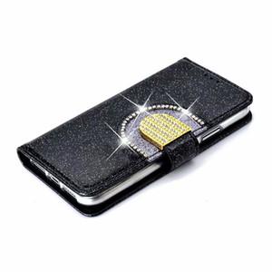 Nouveau cuir de luxe Crystal pour iPhone 11 Pro X XS Max téléphone portable XR 8 style d'affaires de cas pour l'iPhone 8 7 plus la couverture de la mode mince