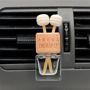 8 ml carro refrogerador de ar garrafa de vidro para óleos essenciais carro garrafa de perfume de cristal carro-styling auto ornamento pingente de perfume