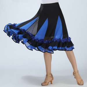 Professional ballroom floral belly dancing dress latin dance skirt/Ballroom Dance Skirts