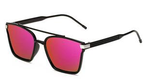 HOT Fashion Personality Uomo Donna Square Fame Pellicola a colori Occhiali da sole Protezione UV Occhiali da vista retrò per gli occhiali da guida