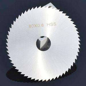 Мини-дисковая пила диаметр лезвия 80 мм HSS быстрорежущей стали 60-зубчатые диски колеса 16 мм Отверстие для дерева алюминия режущий инструмент
