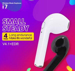Wireless Bluetooth Earphones HBQ i7 Twins TWS Headphones V4.2 Stereo Music Earbuds Phone For Iphone X With Retail Package Zpg059