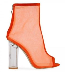 Плюс размер Rainboots женщины Уличная мода Transparant ПВХ Rainboots сексуальный прозрачный заостренный ботильоны 2018