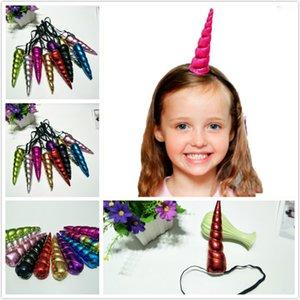 Bambini Unicorno Corno Colorful Bling Fascia Unicorn Hairband Principessa Festa di compleanno Copricapo Accessori Per Capelli Xmas 10 colori molto