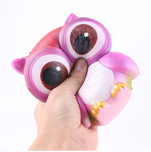 14CM Coruja Squishy Brinquedos PU Fidget Brinquedo Lento Rising Brinquedos de Descompressão MCT 001