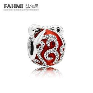FAHMI 100% 925 Sterling Silver 1:1 Original 796259EN07 Authentic Temperament Fashion Glamour Retro Bead Wedding Women Jewelry