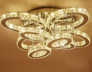 Luz da sala de estar retangular atmosfera criativa oval levou luz da lâmpada de cristal lâmpada do quarto quente levou a absorver a luz de cúpula LLFA