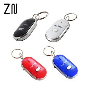 Yüksek Kalite 1 ADET Beyaz Siyah Kırmızı Mavi LED Key Finder Bulucu Kayıp Anahtarları Bulmak Anahtarlık Anahtarlık Düdük Ses Kontrolü