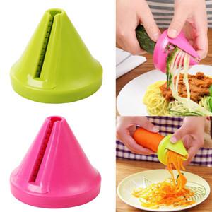 Gadget Embudo Modelo Vegetal Shred Spiral Slicer Zanahoria Rábano Cortador Vegetal Spiralizer Rallador Herramienta de cocina para Pasta Noodle